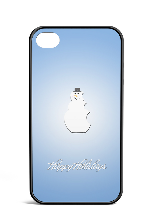 An Elegant Happy Holidays Snowman, Phone Case, pyaonline