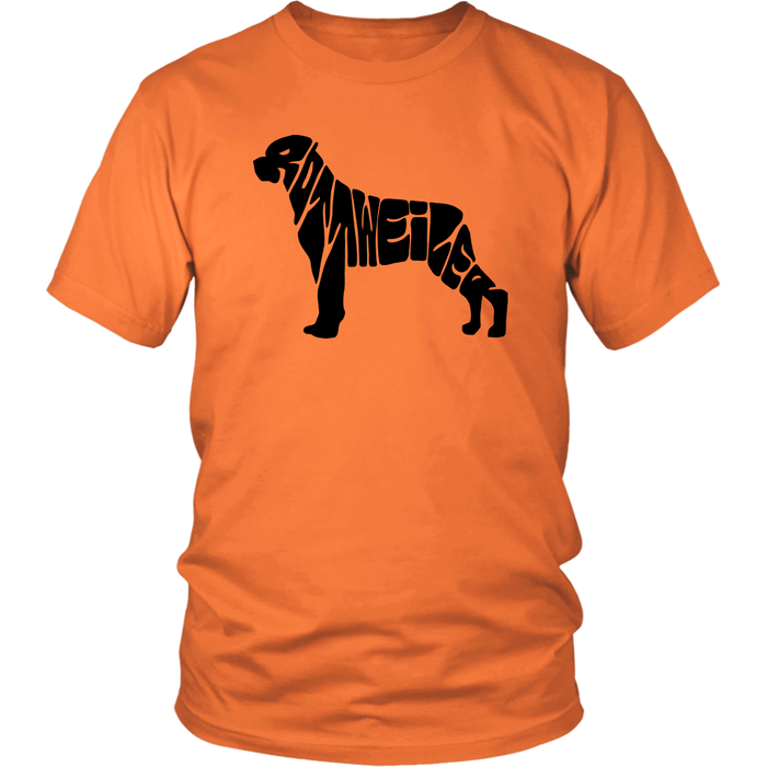 Rottweiler Shape Name, T-shirt, Personally Yours Accessories