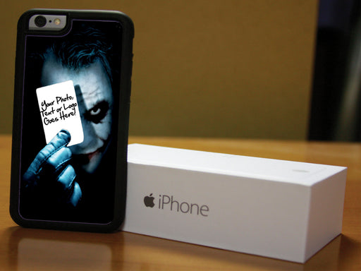 Joker inspired phone case with custom photo