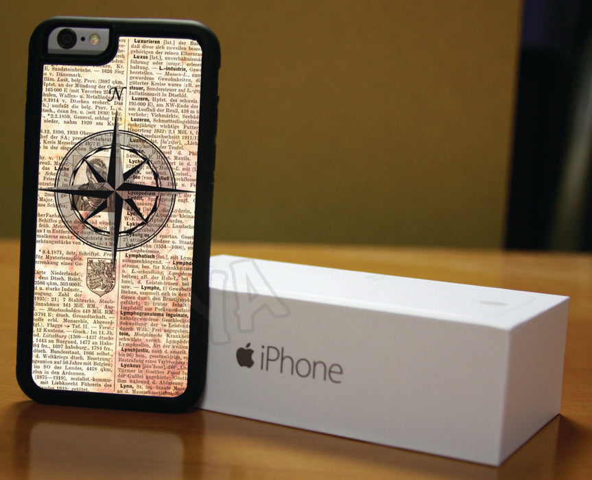 Newspaper and Compass Nautical, Phone Case, pyaonline
