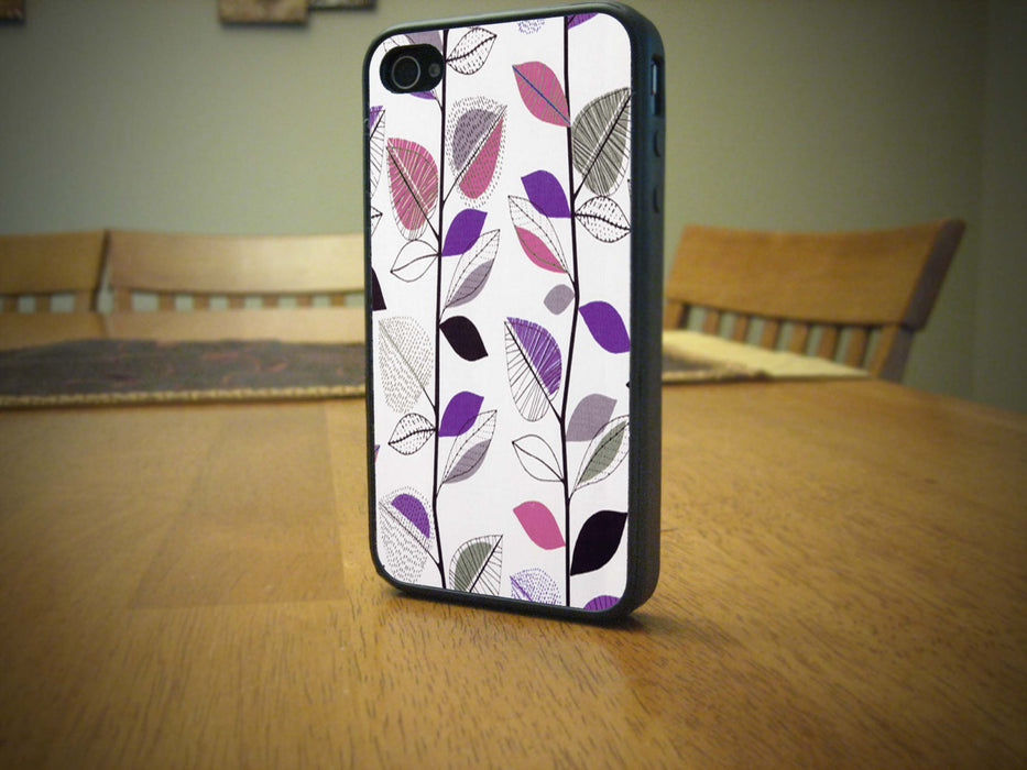 Pink and Purple Leaves, Phone Case, pyaonline