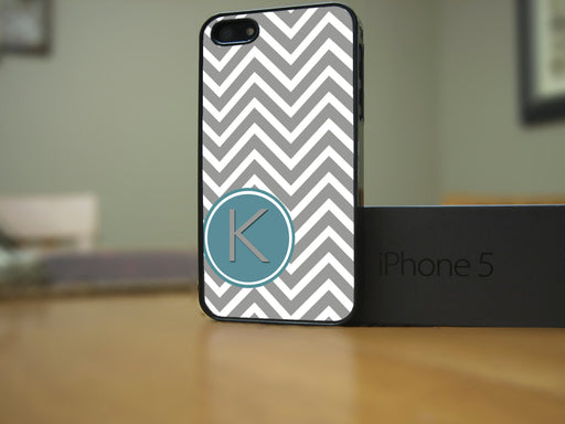 Monogrammed Gray and White Chevron Print, Phone Case, Personally Yours Accessories