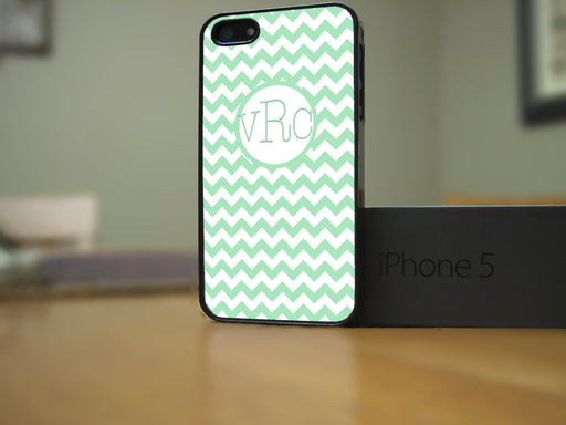 Monogrammed Mint Chevron Print, Phone Case, Personally Yours Accessories