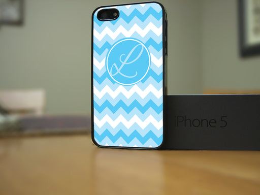 Monogrammed Multi Blue Chevron Print, Phone Case, Personally Yours Accessories