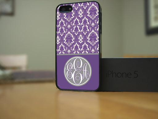 Monogrammed Purple Victorian Print, Phone Case, Personally Yours Accessories