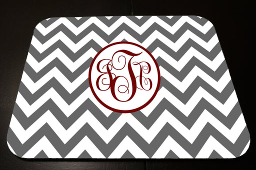 Custom Monogrammed Grey chevron mouse pad.  , Accessories, Personally Yours Accessories