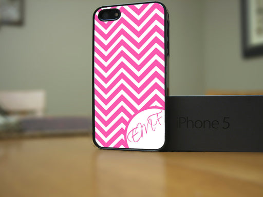 Monogrammed Pink and White Chevron, Phone Case, Personally Yours Accessories