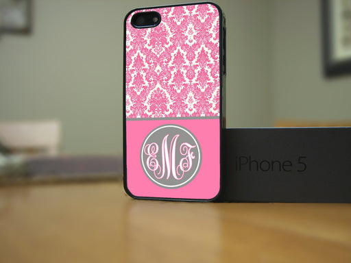 Monogrammed Pink and White Victorian Print, Phone Case, Personally Yours Accessories