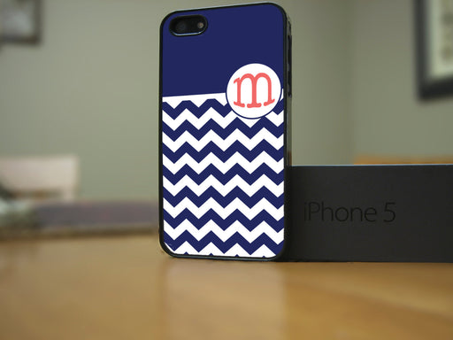 Monogrammed Blue and White Chevron, Phone Case, Personally Yours Accessories