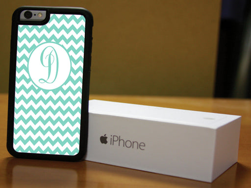 Monogrammed Aqua and Teal Chevron, Phone Case, Personally Yours Accessories