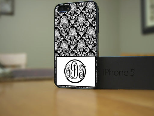 Monogrammed Black and White Victorian Print, Phone Case, Personally Yours Accessories