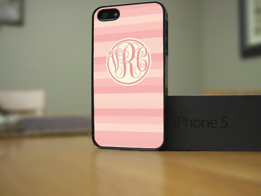 Monogrammed Coral Stripe Print, Phone Case, Personally Yours Accessories