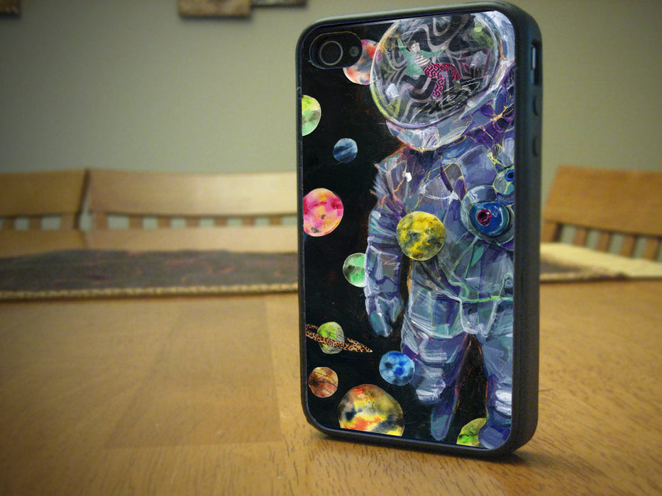 Retro Astronaut Themed, Phone Case, pyaonline