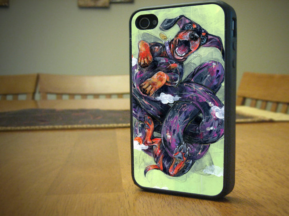 The Jumping dog - Phone Case for Apple iPhone & iTouch Devices