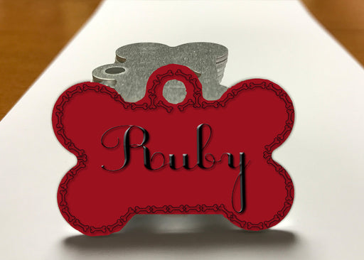 "Personalized Dog & Pet ID Tag with Custom Name - 1.25"" X 1.00"", Accessories, pyaonline"