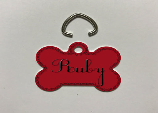 "Personalized Dog & Pet ID Tag with Custom Name - 1.25"" X 1.00"", Accessories, Personally Yours Accessories"