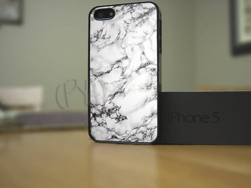 White & Black Marble, Phone Case, Personally Yours Accessories
