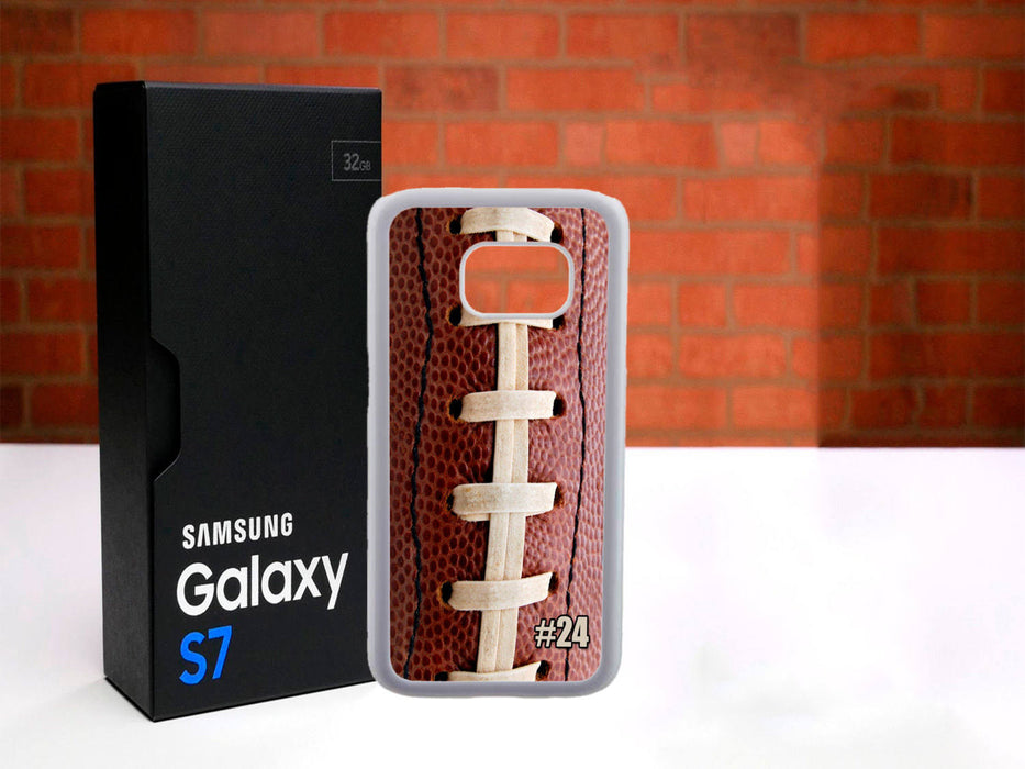 Two sides of a game - (Custom Number)  Football Themed Phone Case for Samsung Galaxy Series, J3, Grand Prime, Alpha, Note 3, Note 7