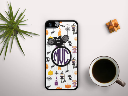 Monogrammed Halloween Themed Print, Phone Case, Personally Yours Accessories