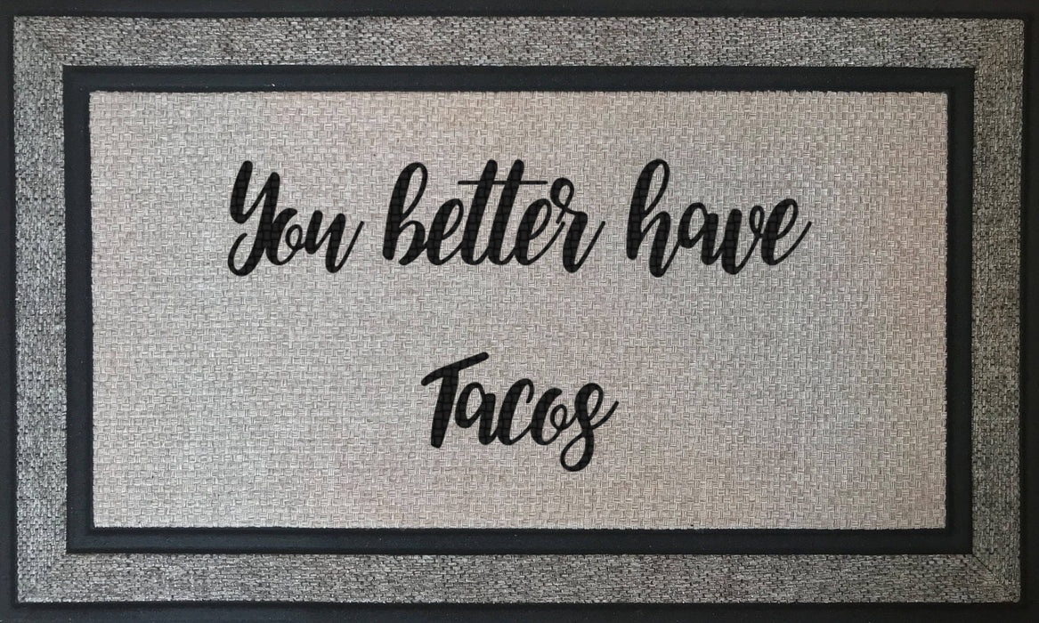 "Funny Sayings for Your Front Door - 18"" x 30"" Rubber Backing Border Door Mat, Custom Door Mats make the Perfect Housewarming Gift, Home Decor, pyaonline"