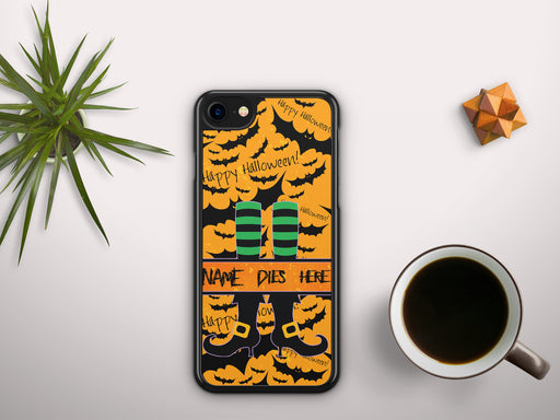 Monogrammed Halloween Themed Witch Monogram Name Banner Print, Phone Case, Personally Yours Accessories