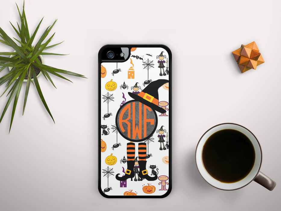 Monogrammed Witches, Spiders, Pumpkins and Mummys oh My - Monogram Badge, Phone Case, Personally Yours Accessories