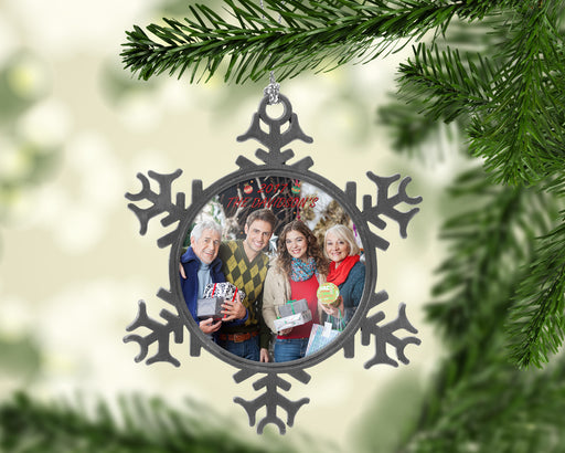 Personalized Pewter Snowflake Christmas Ornament and Decorations, Christmas, pyaonline