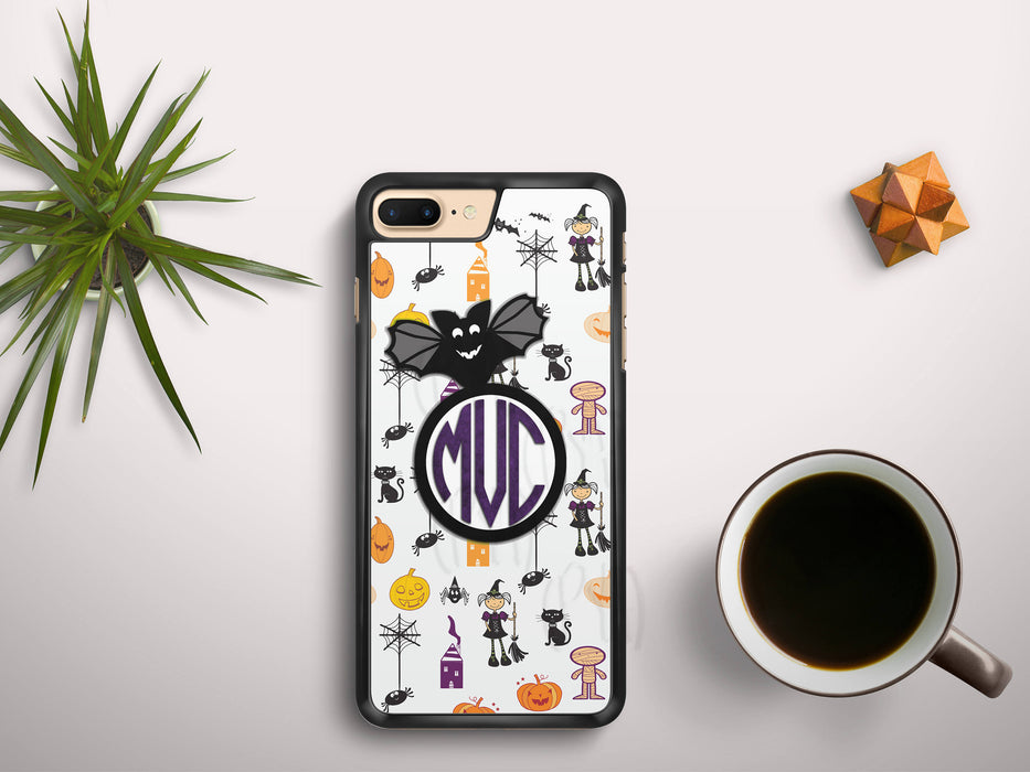 Monogrammed Halloween Themed Print, Phone Case, pyaonline