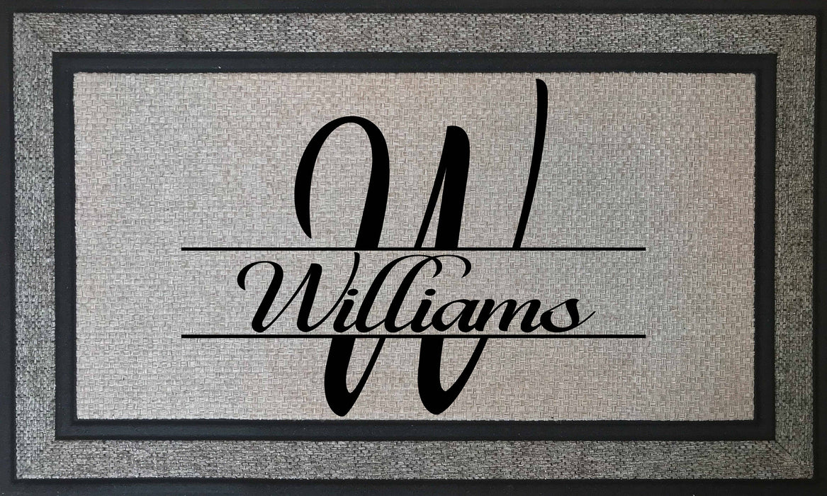 "Elegant and Durable - Personalized Monogrammed 18"" x 30"" Rubber Backing Border Door Mat, Custom Door Mats make the Perfect Housewarming Gift, Home Decor, Personally Yours Accessories"