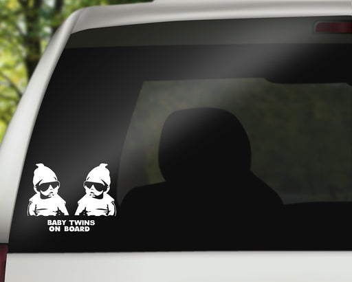 Baby Twins with Shades | Baby On Board Decal, Car Decals, Personally Yours Accessories