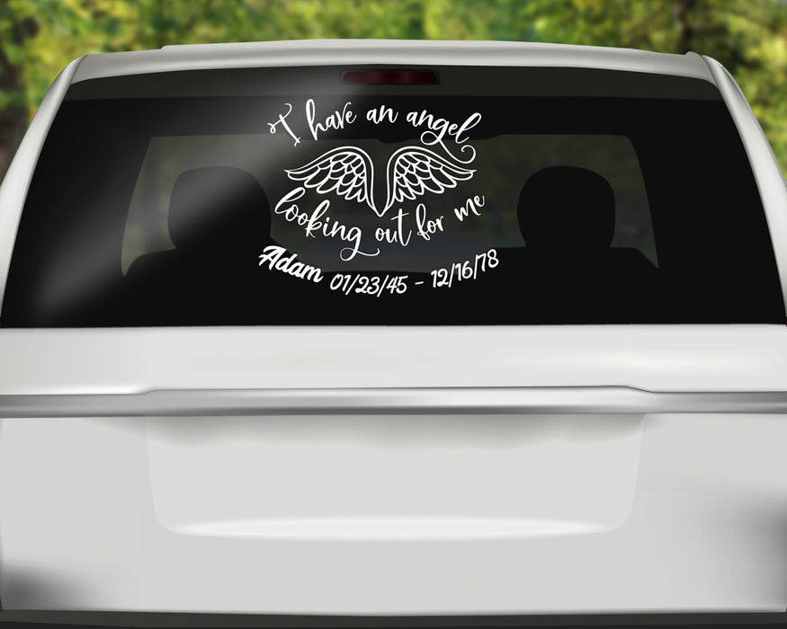 In Memory of with Name and Date Decal, Custom Car Decals, Personally Yours Accessories
