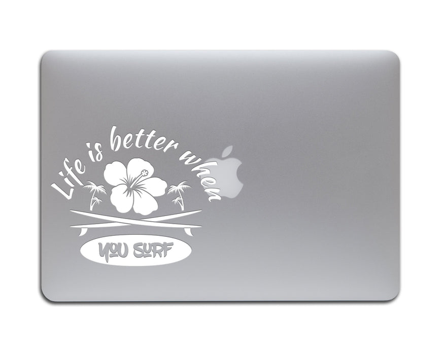Life is better when you Surf Decal, Car Decals, Personally Yours Accessories
