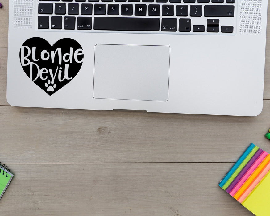 Blonde Devil Heart Decal, Car Decals, pyaonline