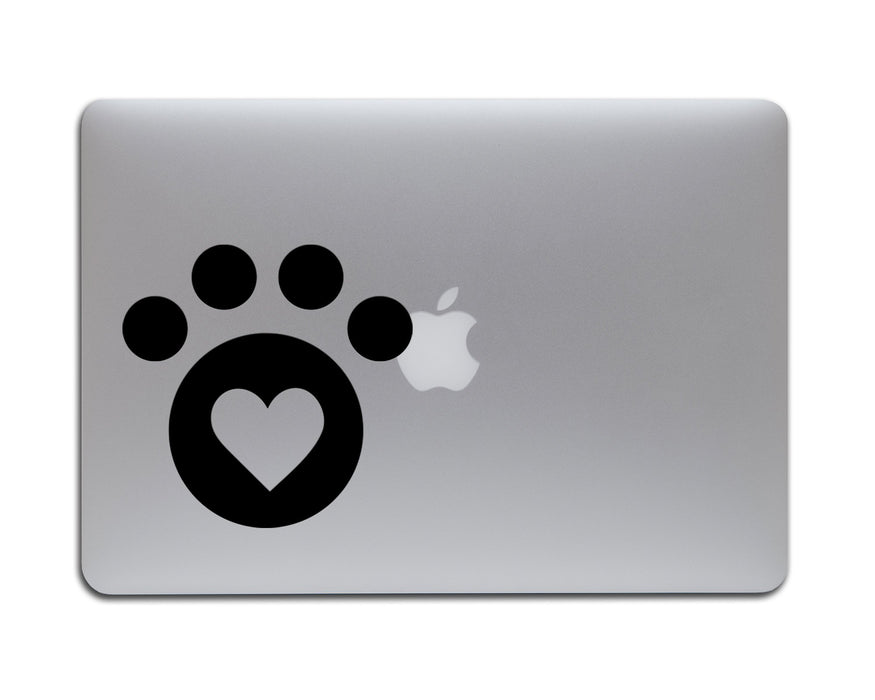 Cat Paw Heart Decal, Car Decals, Personally Yours Accessories