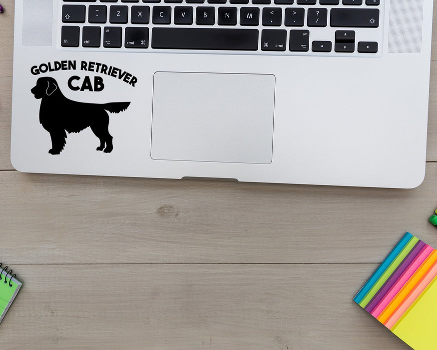Golden Retriever Cab Decal, Car Decals, pyaonline