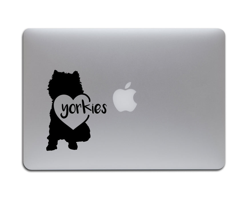 Yorkies in a Heart Decal, Car Decals, Personally Yours Accessories