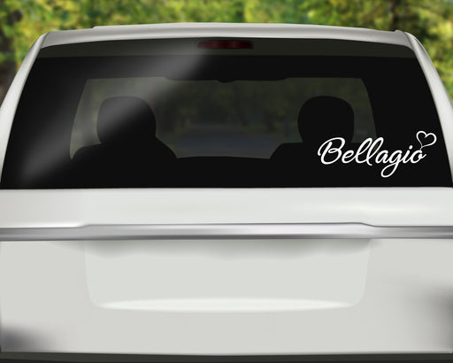 Personalized Name Decal and Heart Decal, Custom Car Decals, Personally Yours Accessories