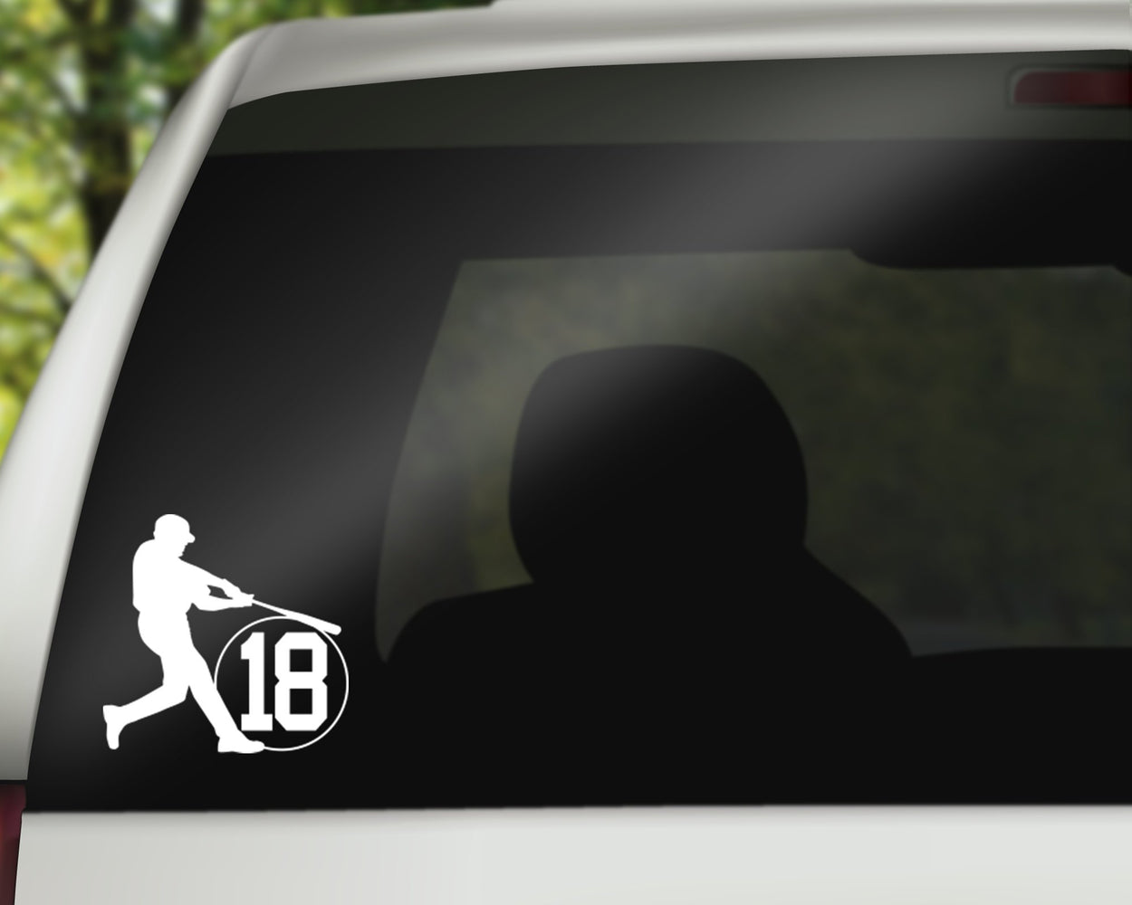 Baseball Jersey Number Decal, Car Decals, Personally Yours Accessories