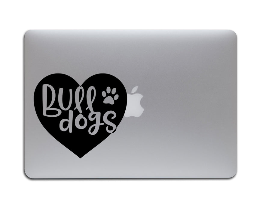 Bulldog in a Heart Decal, Car Decals, pyaonline