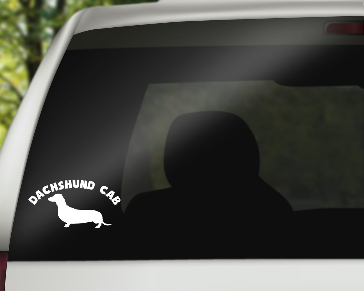 Dachshund Cab Decal, Car Decals, Personally Yours Accessories
