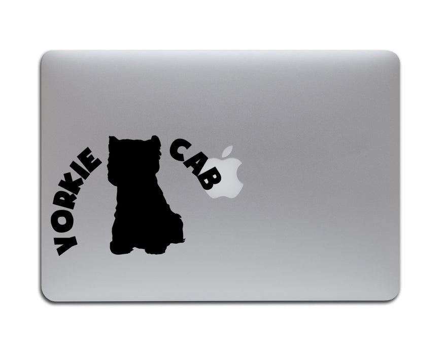 Yorkie Cab Decal, Car Decals, Personally Yours Accessories