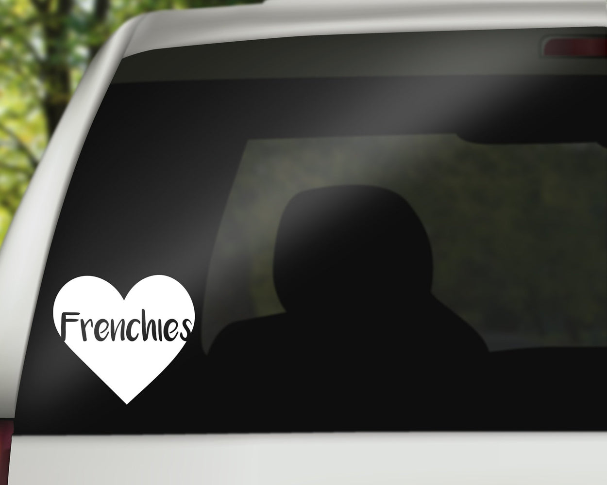 Frenchies Heart Decal, Car Decals, pyaonline