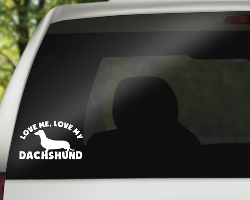 Love Me, Love my Dachshund Decal, Car Decals, pyaonline
