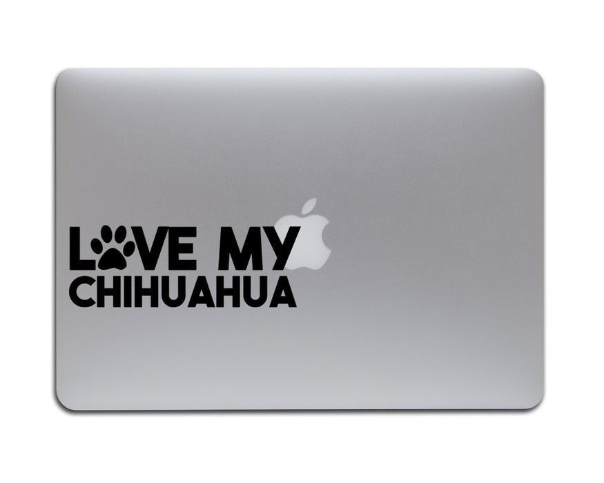 Love my Chihuahua Decal, Car Decals, Personally Yours Accessories