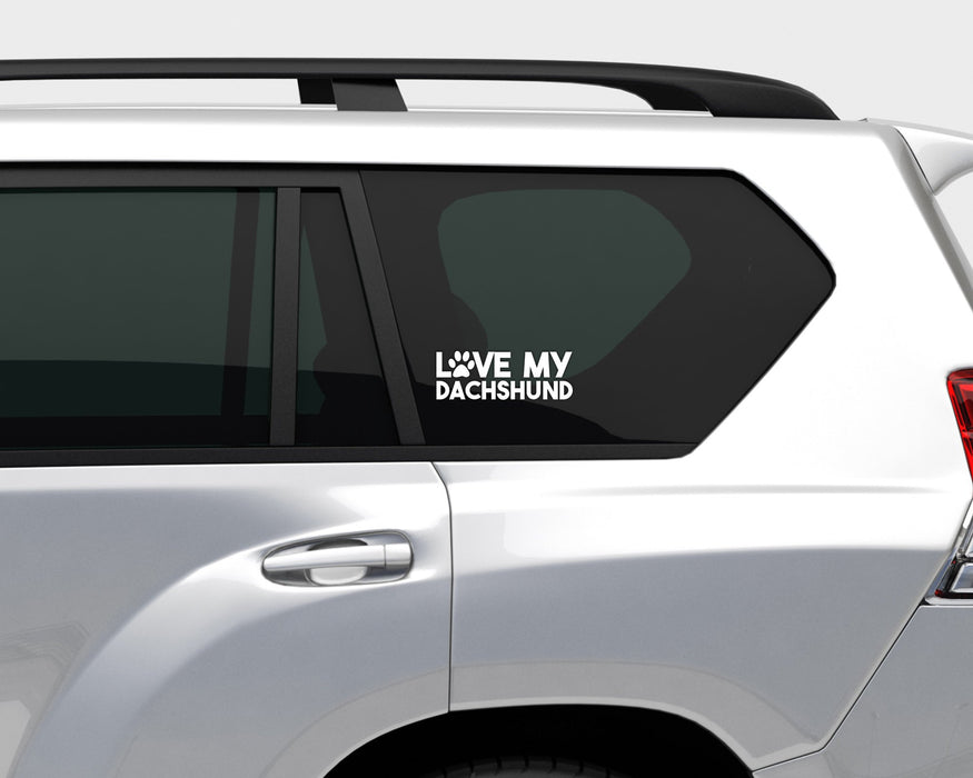 Love my Dachshund Decal, Car Decals, Personally Yours Accessories