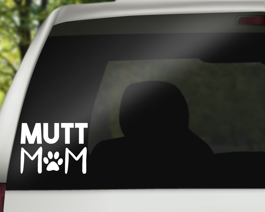 Mutt Mom Decal, Car Decals, Personally Yours Accessories