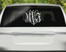 Stunning Vine Script Monogram Decal, Custom Car Decals, Personally Yours Accessories