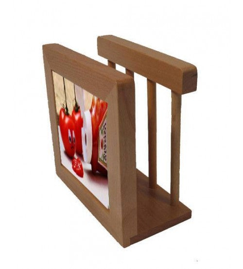 "Hardwood Napkin Holder with Custom 4.25"" Ceramic Tile, Kitchen, Personally Yours Accessories"