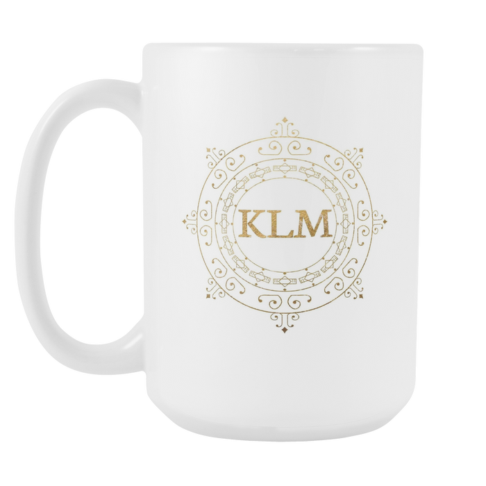 White 15 oz Mug - Monogrammed - Sunshine Wave, Drinkware, Personally Yours Accessories