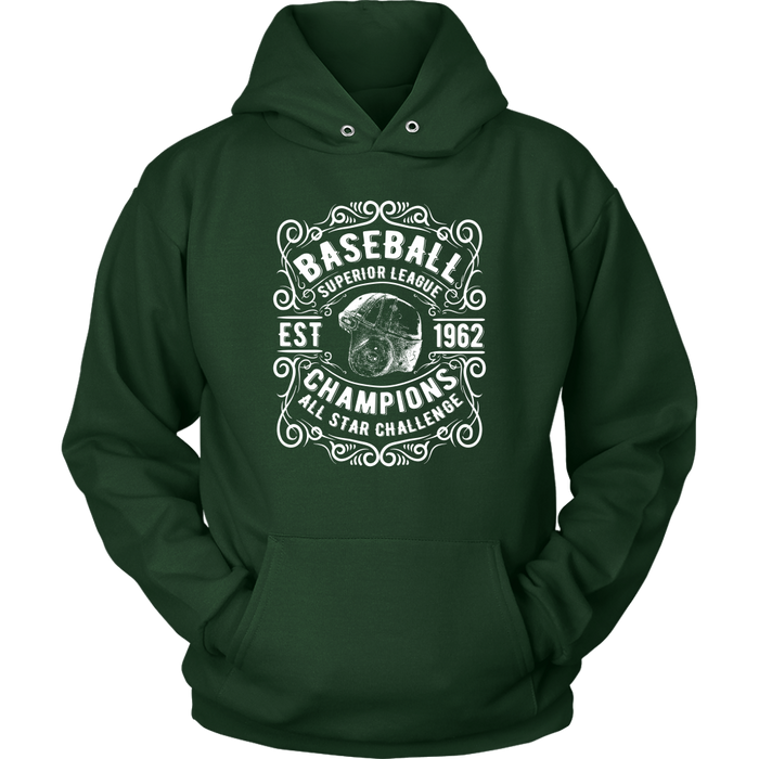 Unisex Hoodie Sweatshirt - Baseball Superior League